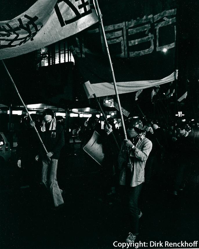 Polizeieinsatz bei Demonstration in Japan