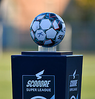 Illustrative photo of the match ball taken before  a female soccer game between  Racing Genk Ladies and Eendracht Aalst on the 5 th matchday of play off 2 in the 2020 - 2021 season of Belgian Scooore Womens Super League , friday 7 th of May 2021  in Genk , Belgium . PHOTO SPORTPIX.BE | SPP | JILL DELSAUX