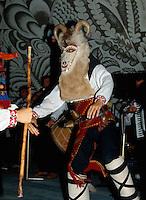 Bulgarien, Albena, Kukeri-Maske