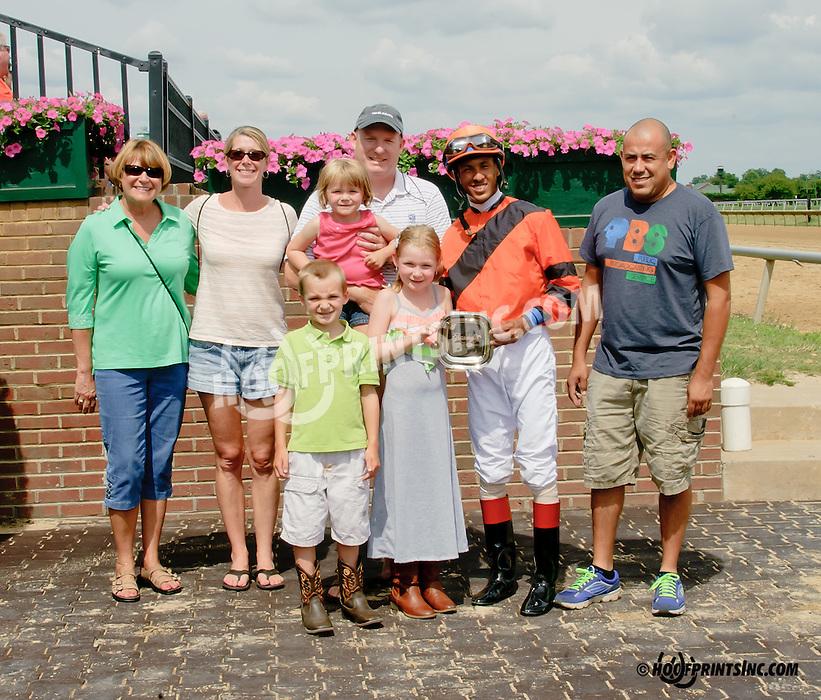 Honey Springs winning at Delaware Park on 7/19/14