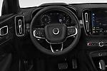 Car pictures of steering wheel view of a 2019 Volvo XC40 R-Design 5 Door SUV Steering Wheel