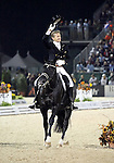 Edward Gal and Moorlands Totilas of the Netherlands perform their Freestyle Dressage in the Grand Prix Freestyle Dressage competition at the Alltech World Equestrian Games in Lexington, Kentucky.