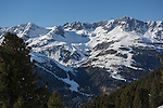 St Anton Ski Area seen from Rendl, Austria,