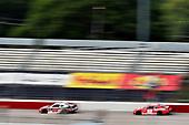 #20: Christopher Bell, Joe Gibbs Racing, Toyota Supra McCall's Supply Ruud and #18: Denny Hamlin, Joe Gibbs Racing, Toyota Supra SportClips