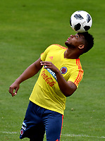 BOGOTÁ - COLOMBIA, 24–05-2018: Frank Fabra, jugador de la Selección Colombia, durante entrenamiento en el Estadio Nemesio Camacho El Campín, en Bogotá. Colombia se prepara para la próxima la Copa Mundo FIFA 2018 Rusia. / Frank Fabra, player of the Colombia team, during training at the Nemesio Camacho El Campin stadium, in Bogota city. Colombia prepares for the next 2018 FIFA World Cup Russia. Photo: VizzorImage / Luis Ramirez /Staff.