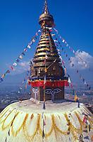 Swayambunath, Tibetan Buddhist stupa.