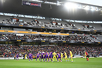 30th May 2021; Auckland, New Zealand;  General view of play with the fans in attendance. Wellington Phoenix versus Perth Glory, A-League football at Eden Park.