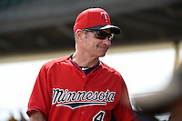 Minnesota Twins manager Paul Molitor (4) during a Spring Training game against the Pittsburgh Pirates on March 13, 2015 at McKechnie Field in Bradenton, Florida.  Minnesota defeated Pittsburgh 8-3.  (Mike Janes/Four Seam Images)