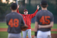 Jesus Azuaje coaches for the Giants during the Under Armour Baseball Factory Recruiting Classic at Gene Autry Park on December 27, 2017 in Mesa, Arizona. (Zachary Lucy/Four Seam Images)