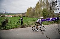 Michael Schär (SUI/AG2R Citroën) up the Kortekeer<br /> <br /> 105th Ronde van Vlaanderen 2021 (MEN1.UWT)<br /> <br /> 1 day race from Antwerp to Oudenaarde (BEL/264km) <br /> <br /> ©kramon