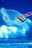 Windsurfing at world famous Hookipa Beach park, Maui
