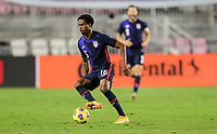 FORT LAUDERDALE, FL - DECEMBER 09: Kyle Duncan #16 of the United States turns with the ball during a game between El Salvador and USMNT at Inter Miami CF Stadium on December 09, 2020 in Fort Lauderdale, Florida.