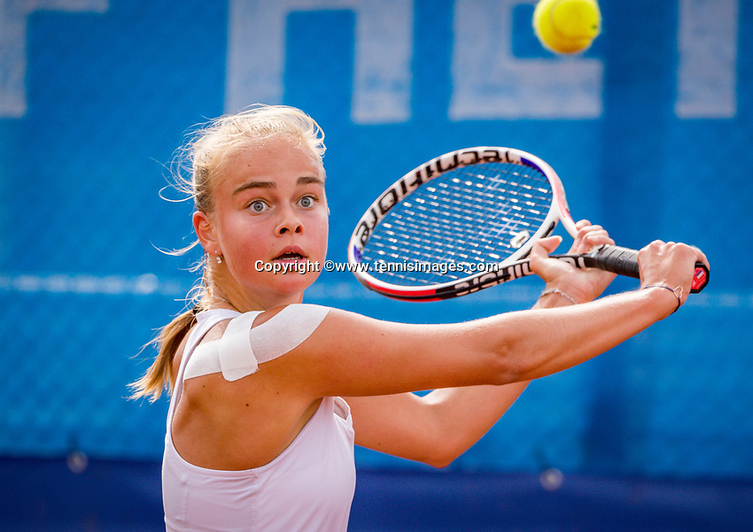 Amstelveen, Netherlands, 1 August 2020, NTC, National Tennis Center, National Tennis Championships,  womens single final: Bente Spee (NED)