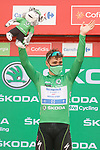 Fabio Jakobsen (NED) Deceuninck Quick-Step retains the points Green Jersey at the end of Stage 10 of La Vuelta d'Espana 2021, running 189km from Roquetas de Mar to Rincón de la Victoria, Spain. 24th August 2021.     <br /> Picture: Luis Angel Gomez/Photogomezsport   Cyclefile<br /> <br /> All photos usage must carry mandatory copyright credit (© Cyclefile   Luis Angel Gomez/Photogomezsport)