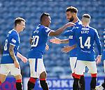 Rangers v St Mirren:  Connor Goldson congratulates goalscorer Alfredo Morelos