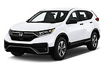 2020 Honda CR-V LX 5 Door SUV Angular Front automotive stock photos of front three quarter view