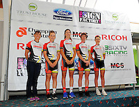 The Hi 5 Dream team. Trust House Women's Cycle Tour Of New Zealand launch at Copthorne Hotel in Masterton, New Zealand on Wednesday, 18 February 2015. Photo: Dave Lintott / lintottphoto.co.nz