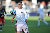 WASHINGTON, DC - MARCH 07: Ben Sweat #22 of Inter Miami CF moves the ball during a game between Inter Miami CF and D.C. United at Audi Field on March 07, 2020 in Washington, DC.