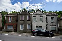 Pictured: A general view of Woodside Terrace in Crumlin, Caerphilly, Wales, UK. Friday 21 June 2019<br /> Re: Residents on one of the UK's most polluted roads are set to be given 150% of the value of their homes to knock them down.<br /> Recorded levels of nitrogen dioxide on the A472 at Hafodyrynys were higher than anywhere else apart from central London 2015 and 2016.