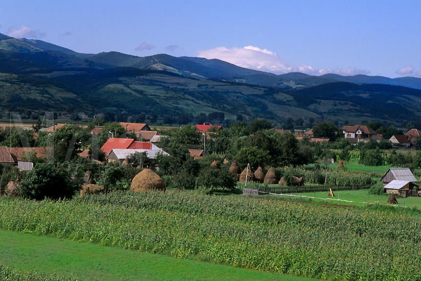 Hills and farming scenic near Sibiv Romania