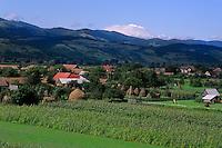 Hills and farming scenic near Sibiv Romania