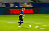 CARSON, CA - OCTOBER 14: Jackson Yueill #14 of the San Jose Earthquakes moves with the ball during a game between San Jose Earthquakes and Los Angeles Galaxy at Dignity Heath Sports Park on October 14, 2020 in Carson, California.