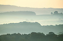 29/09/18<br /> <br /> Early morning mist and frost cling the countryside near Bakewell in Derbyshire Peak District near Bakewell.<br /> <br /> All Rights Reserved, F Stop Press Ltd. (0)1335 344240 +44 (0)7765 242650  www.fstoppress.com rod@fstoppress.com