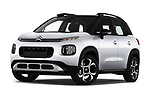 Stock pictures of low aggressive front three quarter view of a 2018 Citroen C3 Aircross Shine 5 Door SUV