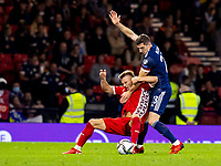 4th September 2021; Hampden Park, Glasgow, Scotland: FIFA World Cup 2022 qualification football, Scotland versus Moldova: Oleg Reabciuk of Moldova and Kenneth McLean of Scotland compete for possession of the ball