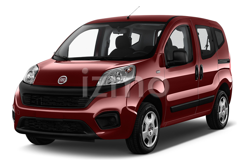 2017 Fiat Qubo Easy 5 Door MPV angular front stock photos of front three quarter view