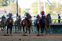 1st May 2021; Kentucky, USA;  Jockey  John Velazquez rides Median Spirit (8) to victory during the 147th running of the Kentucky Derby on May 01, 2021 at Churchill Downs in Louisville