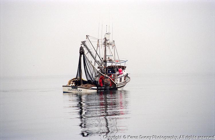 Seiner, F/V Venturess, fishing for salmon in Kodiak, Alaska