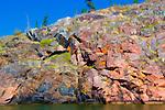 Rocks along the shore of Great Slave Lake