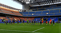 Inter Milan's players celebrate at the end of the Italian Serie A football match between Inter Milan and Sampdoria at Milan's Giuseppe Meazza stadium, May 8, 2021. Inter won his 19th Scudetto.<br /> UPDATE IMAGES PRESS/Isabella Bonotto