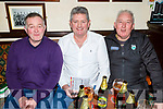 Gerard O'Connor, Willie Dennehy and Billy Hennessy enjoying the Cheltenham Gold Cup day in the Sliabh Mish on Friday.