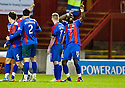 CALEY'S GREGORY TADE CELEBRATES AFTER HE SCORES INVERNESS' GOAL..14/01/2012 sct_jsp006_motherwell_v_ict     .Copyright  Pic : James Stewart.James Stewart Photography 19 Carronlea Drive, Falkirk. FK2 8DN      Vat Reg No. 607 6932 25.Telephone      : +44 (0)1324 570291 .Mobile              : +44 (0)7721 416997.E-mail  :  jim@jspa.co.uk.If you require further information then contact Jim Stewart on any of the numbers above.........