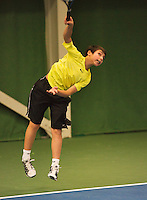 01-12-13,Netherlands, Almere,  National Tennis Center, Tennis, Winter Youth Circuit, Sidané Pontjodikromo   <br /> Photo: Henk Koster