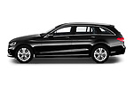 Car driver side profile view of a 2018 Mercedes Benz C Class Base 5 Door Wagon