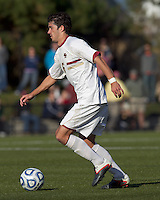 Boston College midfielder Steve Rose (6) brings the ball forward.  Rutgers University defeated Boston College in penalty kicks after two overtime periods in NCAA Division I tournament action, at Newton Campus Field, November 20, 2011.