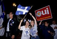 FILE PHOTO - <br /> La campagne du referendum de1995<br /> <br /> PHOTO : Pierre Roussel<br />  - Agence Quebec Presse