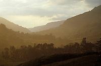 Europe/France/Auvergne/15/Cantal/Parc Régional des Volcans/Massif du Puy Mary (1787 mètres): Orage sur la vallée du Falgoux