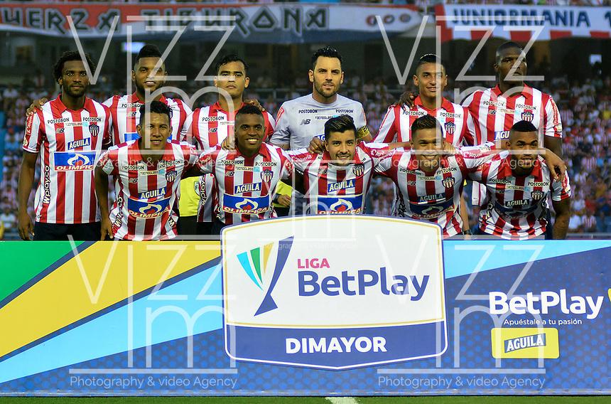 BARRANQUILLA-COLOMBIA, 16-02-2020: Jugadores de AtlŽtico Junior, posan para una foto, antes de partido entre AtlŽtico Junior y Once Caldas, de la fecha 5 por la Liga BetPlay DIMAYOR I 2020, jugado en el estadio Metropolitano Roberto MelŽndez de la ciudad de Barranquilla. / Players of Atletico Junior, pose for a photo, prior a match between Atletico Junior and Once Caldas of the 5th date for the BetPlay DIMAYOR I Leguaje 2020 played at the Metropolitano Roberto Melendez Stadium in Barranquilla city. / Photo: VizzorImage / Alfonso Cervantes / Cont.