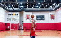 HOUSTON, TX - FEBRUARY 1: Carli Lloyd #10 of the United States takes a shot at Houston Rockets Training Center on February 1, 2020 in Houston, Texas.
