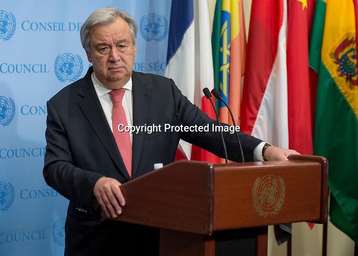 Secretary-General brief the press on his travel
