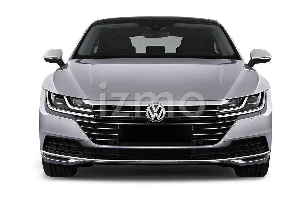 Car photography straight front view of a 2018 Volkswagen Arteon Elegance 5 Door Hatchback Front View