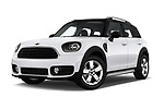 Stock pictures of low aggressive front three quarter view of 2017 MINI Countryman - 5 Door Hatchback Low Aggressive