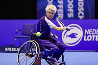 Rotterdam, Netherlands, December 15, 2017, Topsportcentrum, Ned. Loterij NK Tennis, Semi final wheelchair doubles woman, Djoke van Marum (NED) <br /> Photo: Tennisimages/Henk Koster