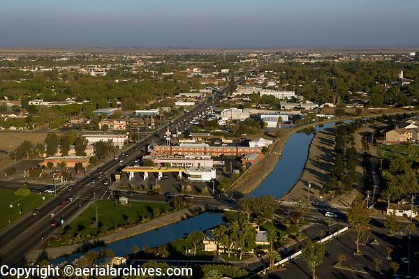 aerial photograph of Los Banos, Merced County, California