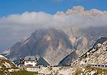 Italy, Veneto, Dolomites, Passo di Valparola, rifugio Valparola, Puez-Odle mountains