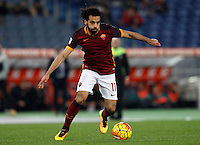 Calcio, Serie A:  Roma vs Palermo. Roma, stadio Olimpico, 21 febbraio 2016. <br /> Roma's Mohamed Salah in action during the Italian Serie A football match between Roma and Palermo at Rome's Olympic stadium, 21 February 2016.<br /> UPDATE IMAGES PRESS/Riccardo De Luca